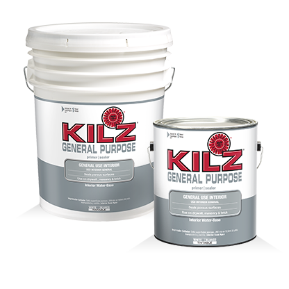 Kilz general purpose interior primers specialty paints concrete care products kilz for Kilz kilz 2 interior exterior latex primer