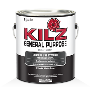 Kilz max primers specialty paints concrete care for Exterior wood water based primer
