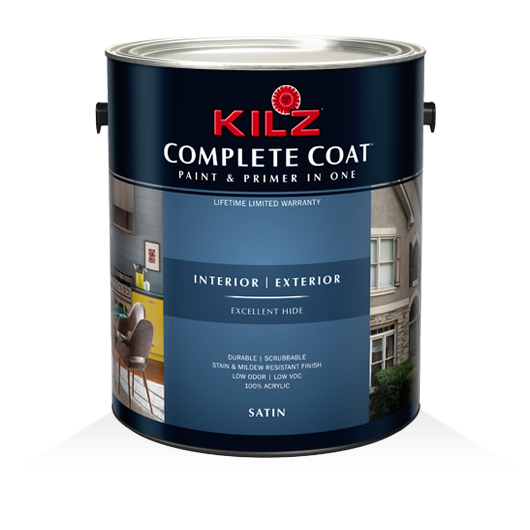 KILZ COMPLETE COAT® - Satin - Primers, Specialty Paints & Concrete ...