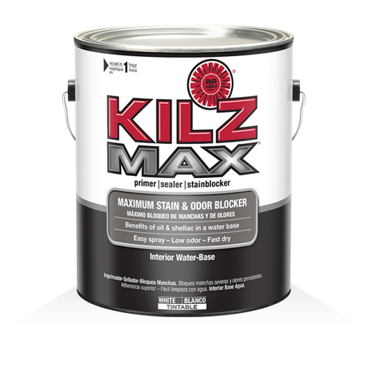 Kilz max interior water base primer kilz for Kilz kilz 2 interior exterior latex primer