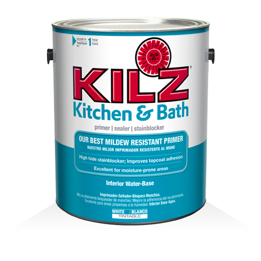 KILZ Kitchen Bath Primer KILZ - Painting over mildew in bathroom