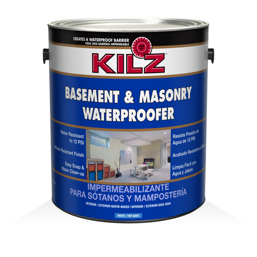 Kilz basement masonry waterproofer primers specialty for Basement concrete cleaner