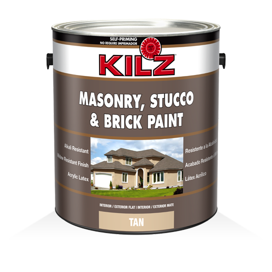 Kilz masonry stucco brick flat paint kilz for Kilz kilz 2 interior exterior latex primer
