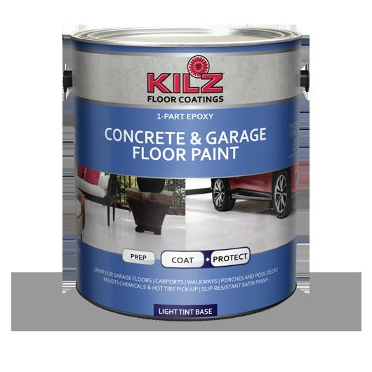 1 Part Epoxy Acrylic Concrete Amp Garage Floor Paint Kilz 174