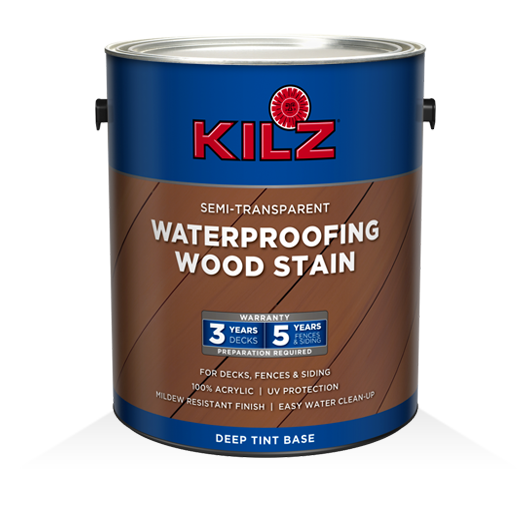 KILZ® Waterproofing Semi-Transparent Stain