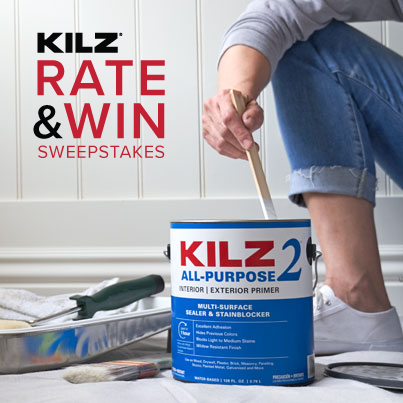 KILZ® Rate & Win Sweepstakes