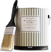 Magnolia Home paint brush and can