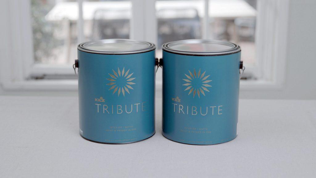Two buckets of Kilz Tribute