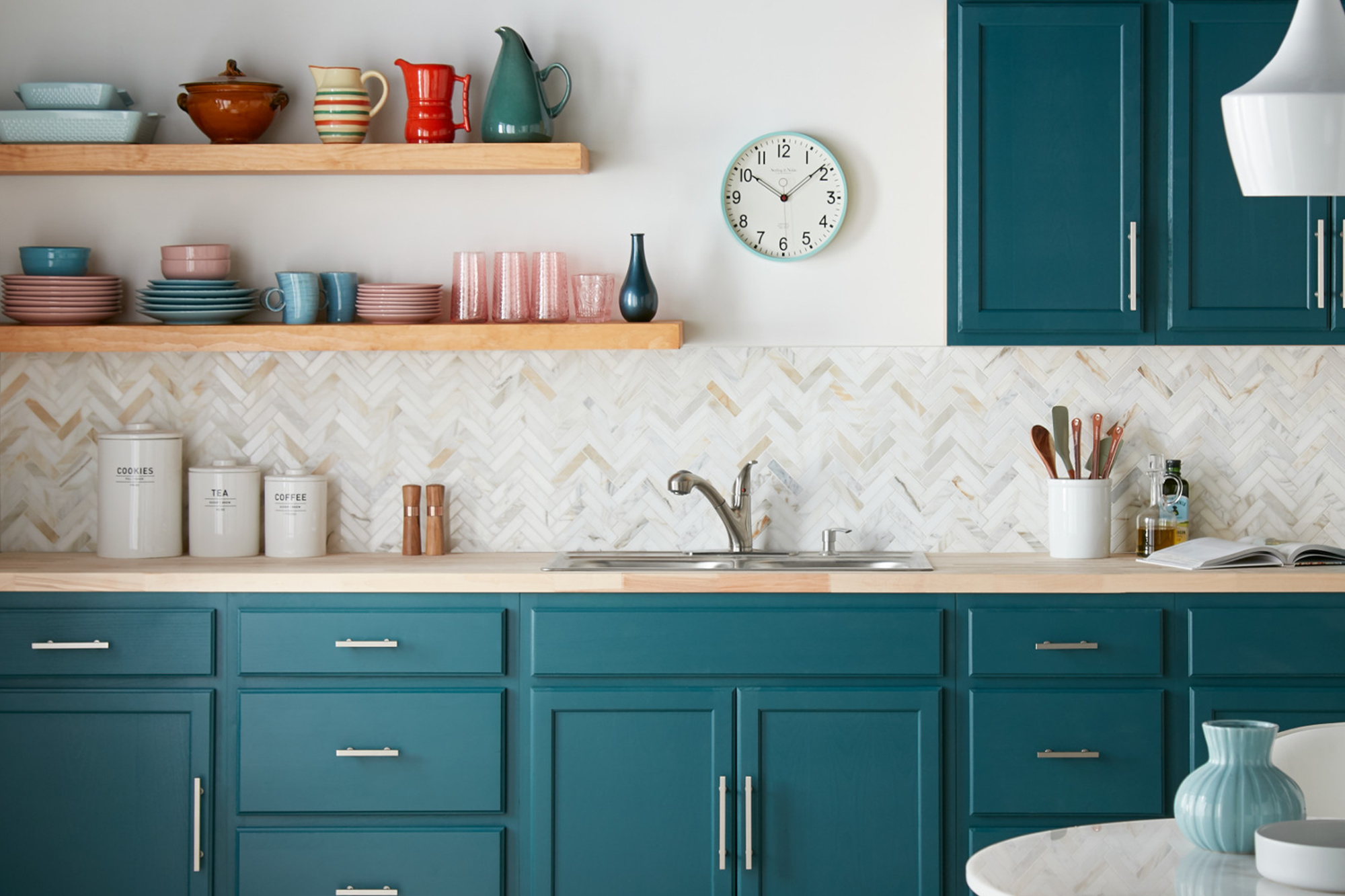 Colorful Kitchen Cabinet Transformation The Perfect Finish Blog By Kilz