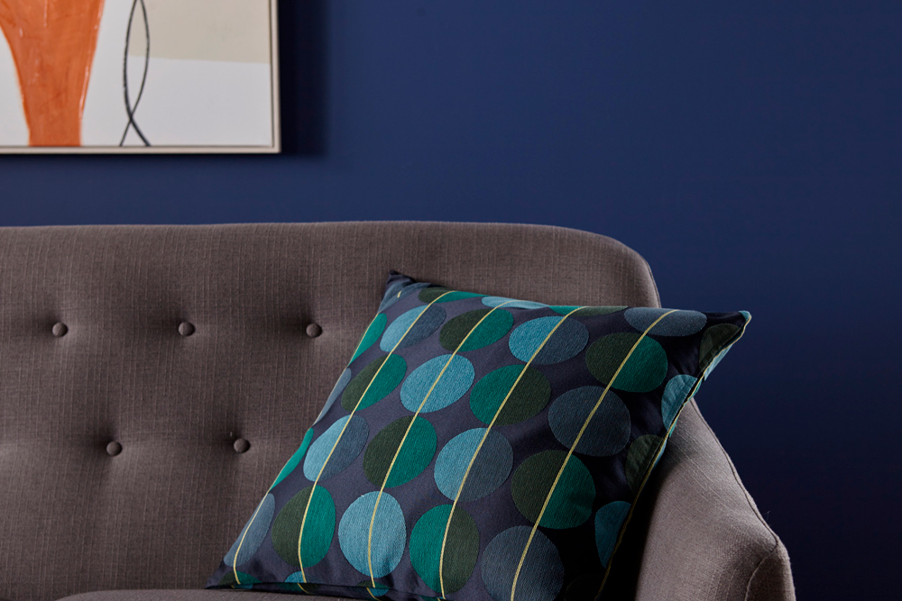 Living Room Authentic Navy Detail