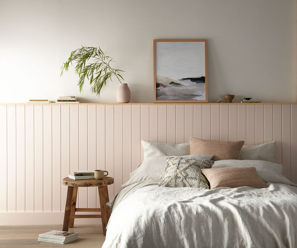 Magnolia Home: Relaxing Rose-Hued Bedroom