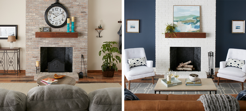 Mid-Century Modern Living Room Makeover Before & After