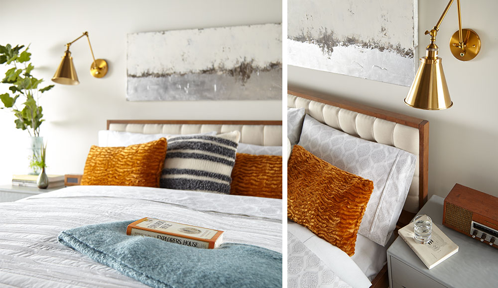 Mid-Century Modern Master Bedroom Details