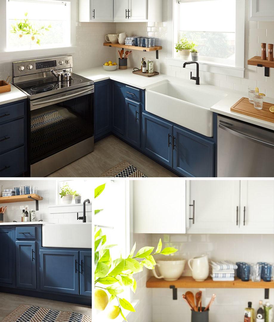 Modern Blue Farmhouse Kitchen The Perfect Finish Blog By Kilz
