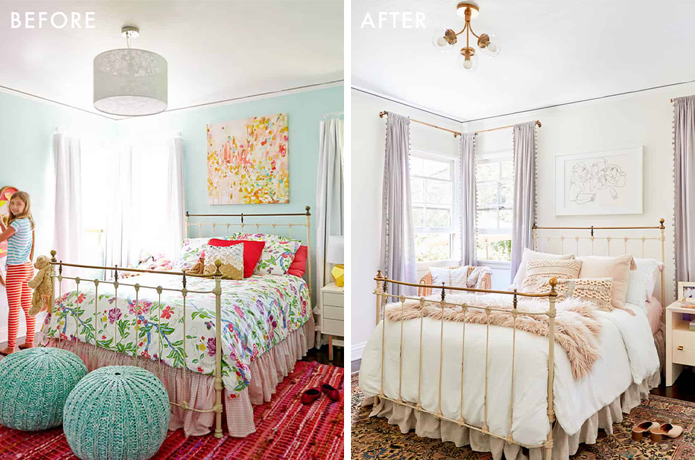 Teen Bedroom, Before and After