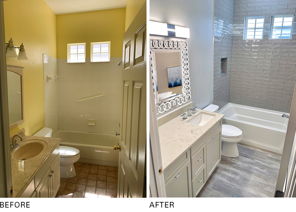Pro Spotlight: Ryka Builders - Bathroom, Before and After