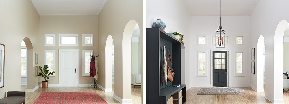 Inviting Entryway Makeover - Before and After