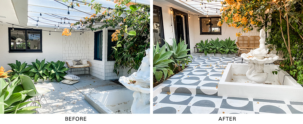 Pro Spotlight: Jesi Haack's Mid-Century Courtyard Makeover - Before & After