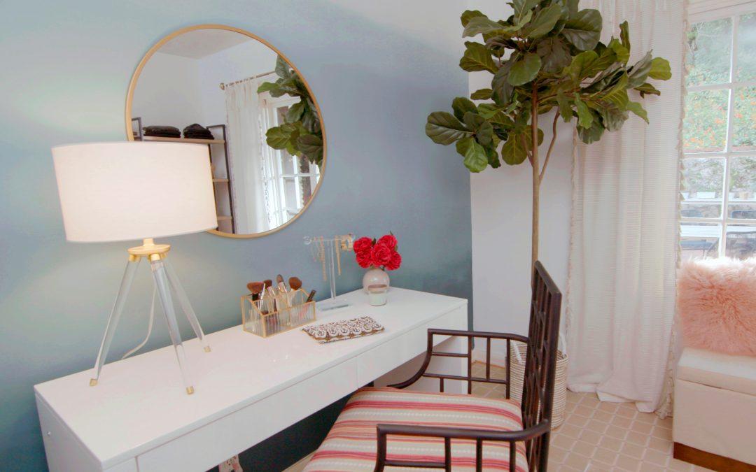Ombré Wall Dressing Room Transformation