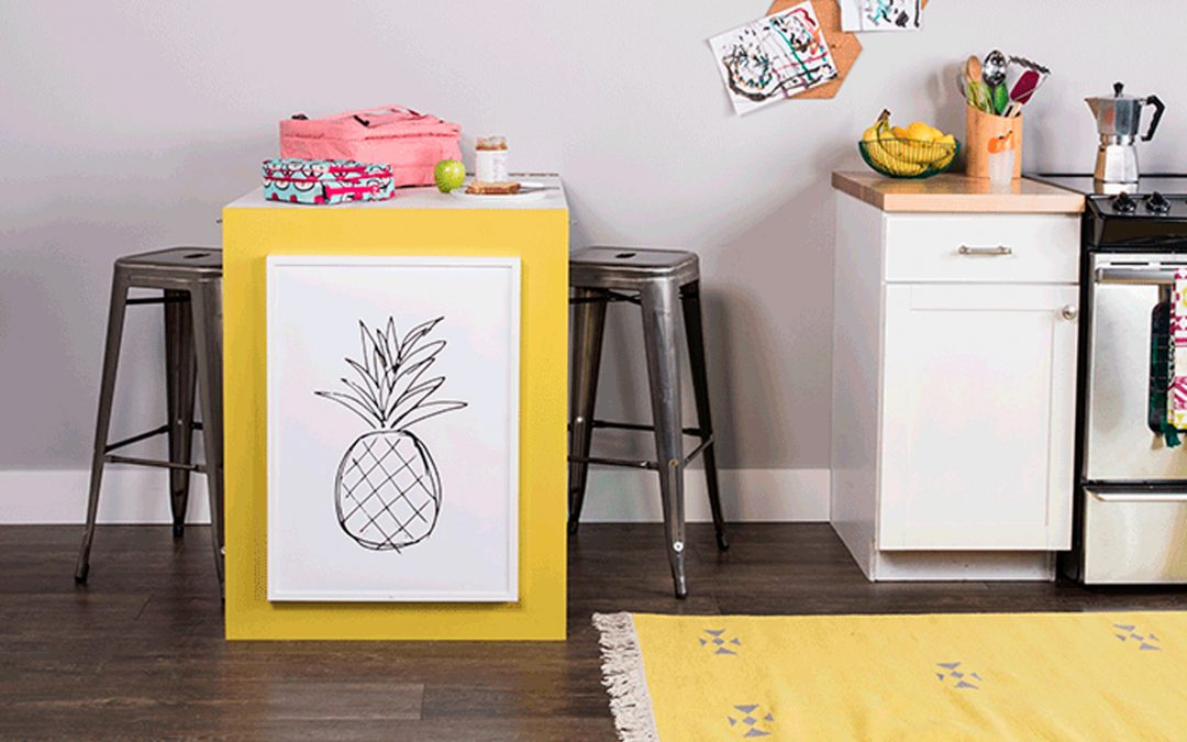 Small Kitchen Hack & A Pop of Color