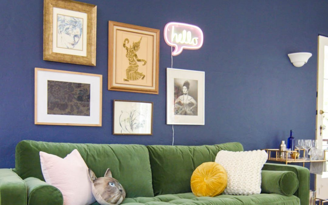 Bold Living Room Color Change Made Easy!