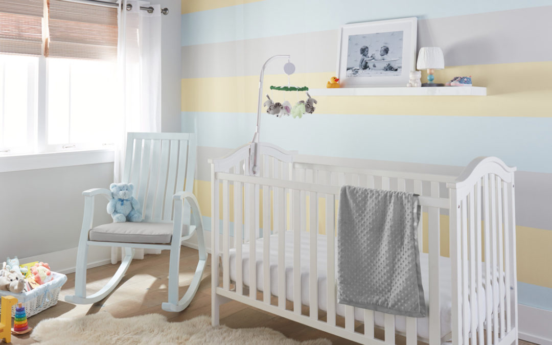Nursery Makeover with a Sweet Striped Accent Wall