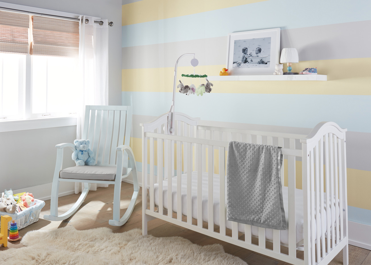 Nursery Makeover with a Sweet Striped Accent Wall  The Perfect