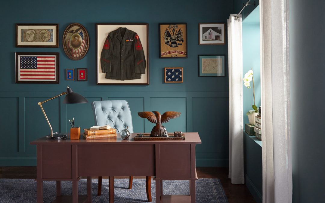 A Military Makeover for Grandpa's Office