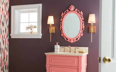 Pretty in Pink Bathroom Makeover
