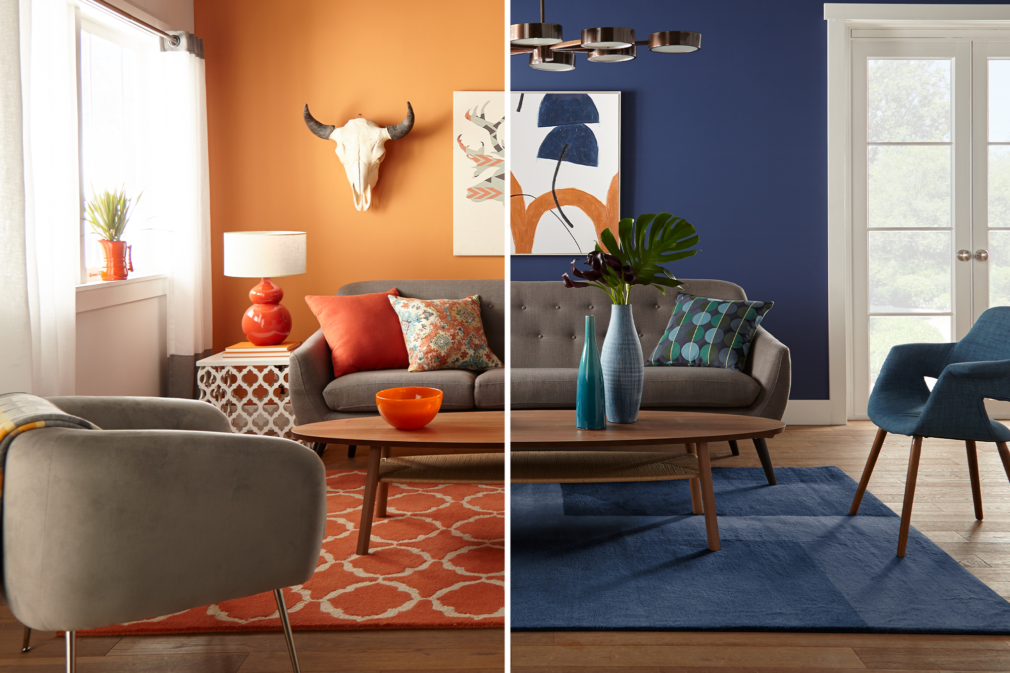 One Living Room Two Ways The Perfect Finish Blog By Kilz
